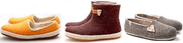 Warme voeten met nieuwe eerlijke sloffen uit Mongolië