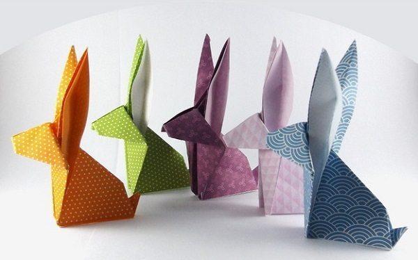 Origami konijnen