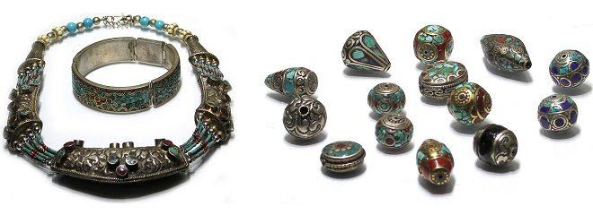 Tibetaanse sieraden en kralen