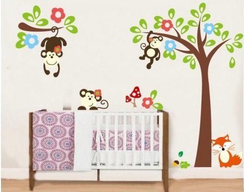 Leuke muurstickers maken de babykamer tot een paradijsje
