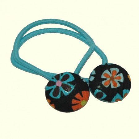 Haarelastiekjes hippie bloemetjes