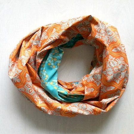 Infinity sjaal Oranje/Blauw