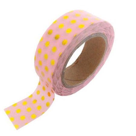 Masking-Tape-Pink-Gold-Dots