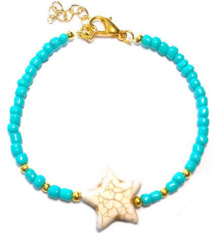 Aqua armband Lovely for You