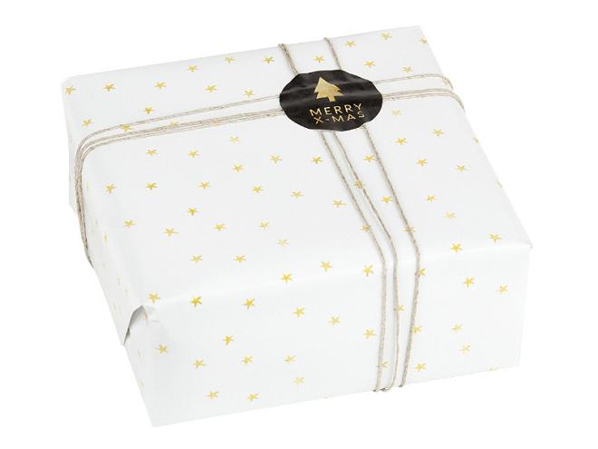 Inpakpapier met gouden sterren - Hooray & Thanks