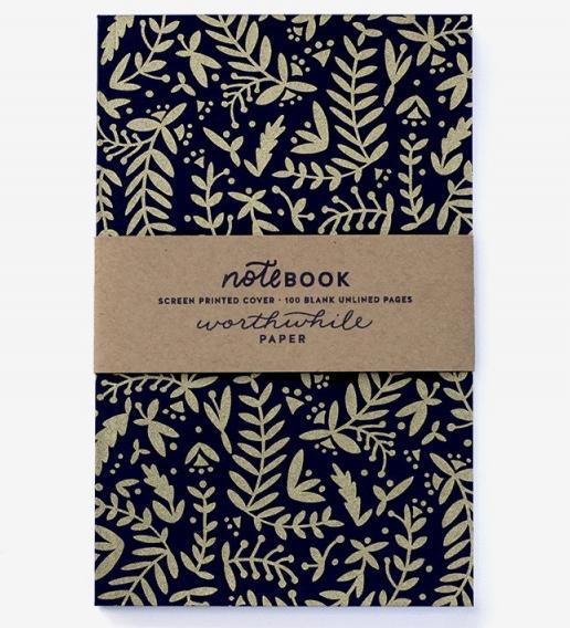 metallic-gold-nature-pattern-notebook-dreamkey-design