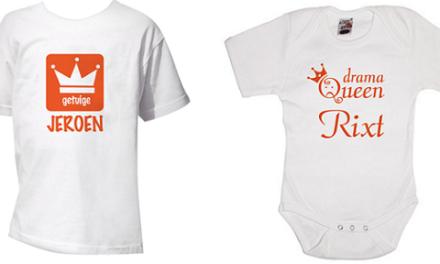 Klaar voor de Kroning met koninklijke rompers en t-shirts
