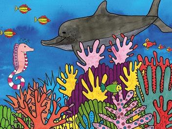 'De dolfijn met sproeten' een vrolijk en kleurrijk verhaal over pesten