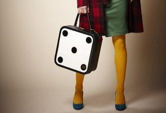 De dobbelsteen koffer. Vintage, retro … hip!