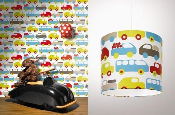 Fantasievol kinderbehang en speelse lampen van Lavmi