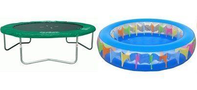 Een trampoline of zwembad in je tuin!