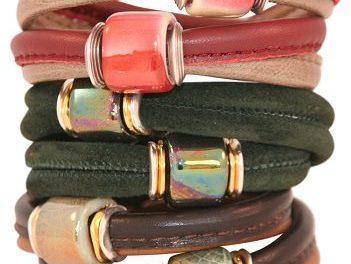 Leer en keramiek = een originele armband!