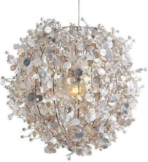 Deze hanglamp met pailletten maakt elke kamer bijzonder