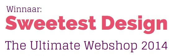Sweetest Design winnaar The Ultimate Webshop 2014
