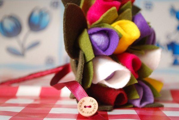 Je bruiloft compleet met vilten accessoires van Be-flowerd.nl