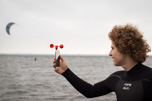 Nieuwe gadget voor windliefsporters: windmeter voor de mobiele telefoon