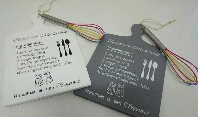 Winnen: Een tekstbord voor in de keuken