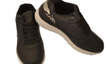Winnen: zwarte dames sneakers