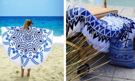 Geweldige zomerse musthave; een rond strandlaken!