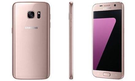 Galaxy S7 Edge in de populaire roségouden kleur