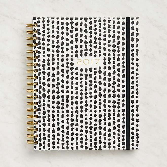 Dreamkey Design - Black & White Dots Agenda 2017