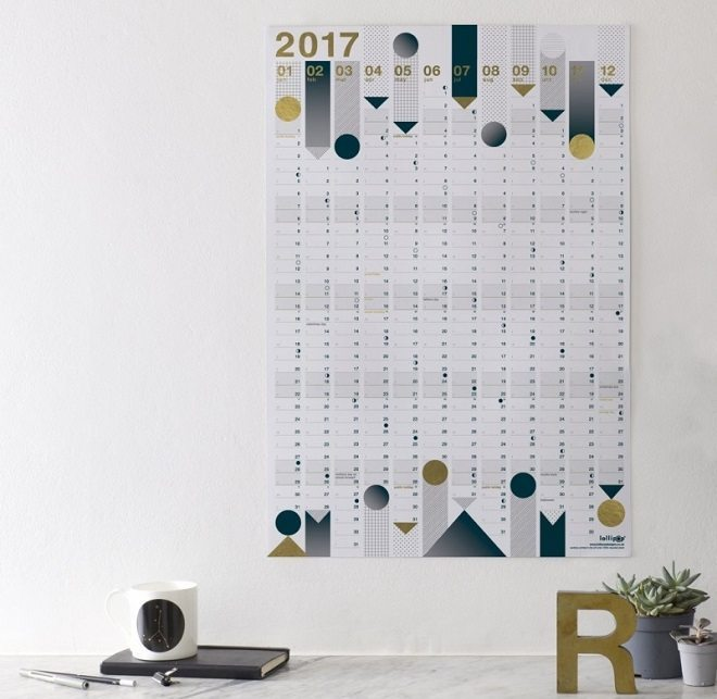 Dreamkey Design - Year Planner 2017 Gold Foil