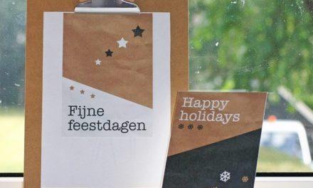 Stoere kerstkaarten verkrijgbaar bij Post & Papier