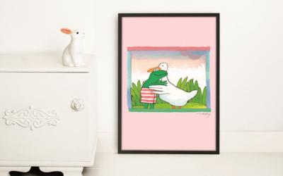 KEK Amsterdam presenteert behang en posters met illustraties van Kikker
