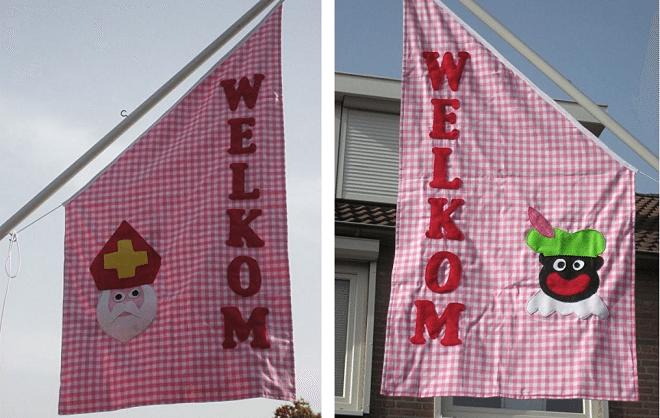 Geef Sint en Piet een warm welkom met een vrolijke vlag