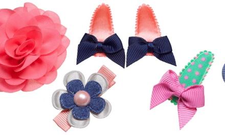Schattige haarspeldjes voor jouw kleine prinsesje bij Staartjes en Strikjes