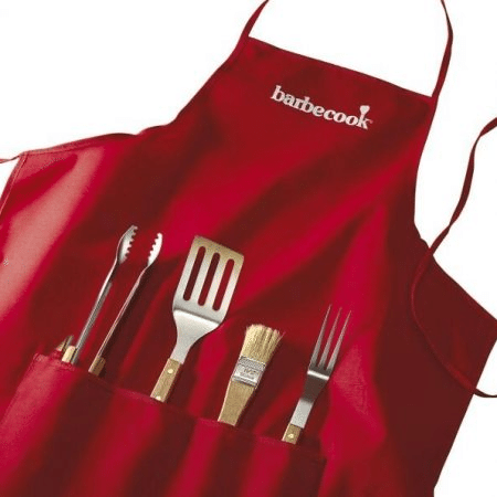 Barbecook Schort Met 4-Delige Barbecueset