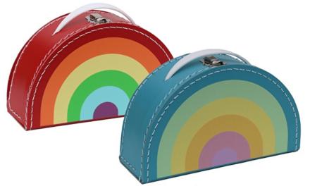 Ideaal Kerst-cadeau: Kleurrijke koffertjes van Handmade by Dena