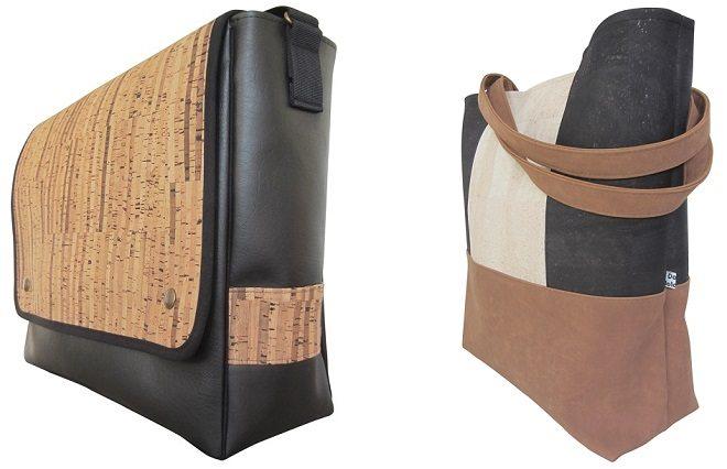 Nieuw: kurkleer tassen bij Door Jolanda
