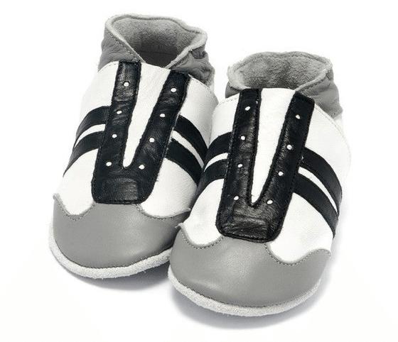 Babyslofjes zwart, wit grijs