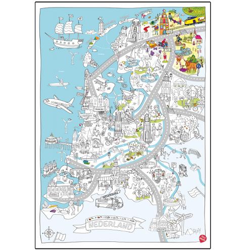 Grote speel- & kleurplaat Nederland