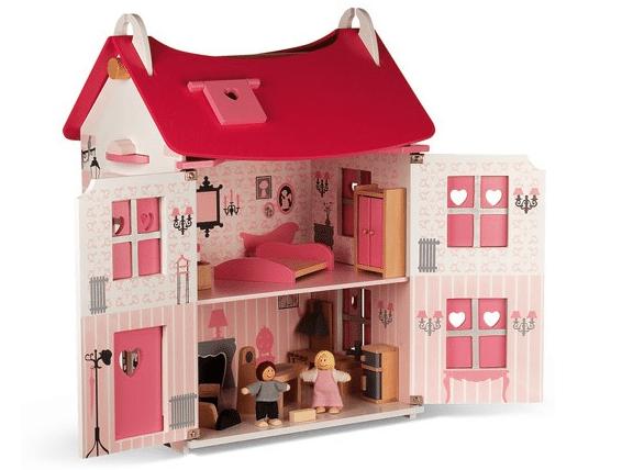 Janod poppenhuis incl. meubeltjes