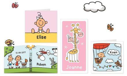 Unieke geboortekaartjes van Babette Harms