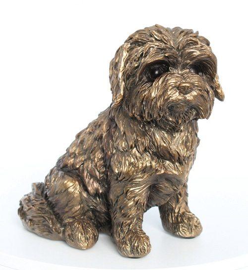 Bronzen hondenbeeldje