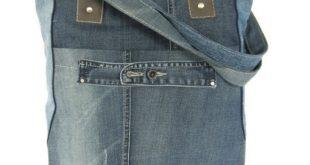 Schoudertas met rits jeans - Door Jolanda