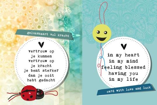 Quote kaarten Gelukspoppetjes