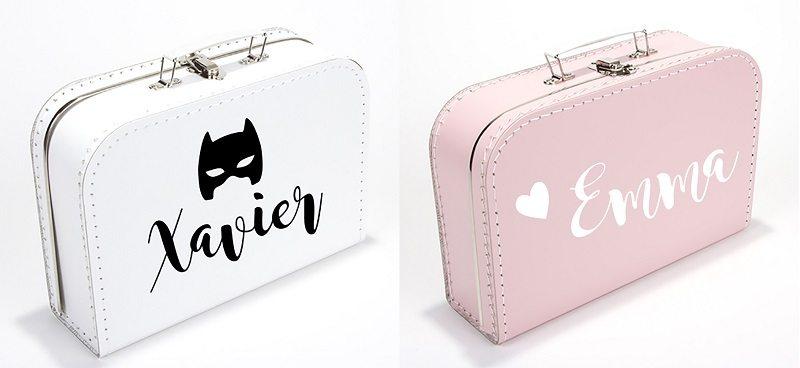 Koffertjes met naam - Topmuurstickers