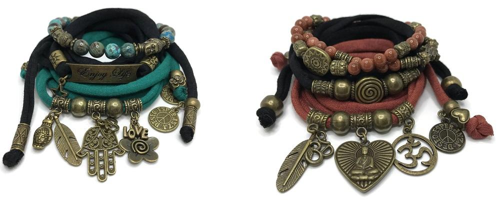 Bohemian wikkelarmbanden staan symbool voor vriendschap, hoop en wensen
