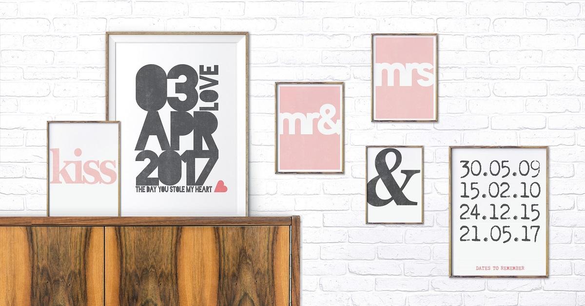 Verklaar elkaar de liefde met een poster van Printcandy