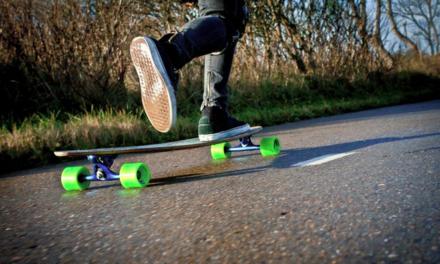 Eindeloos stunten met een skateboard